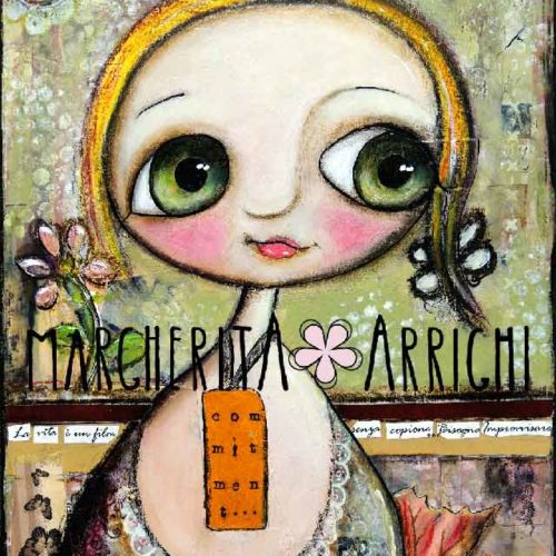 The Commitment Doll with big eyes, by Margherita Arrighi