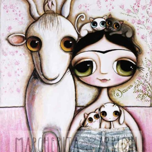 Frida Kahlo and the white goat