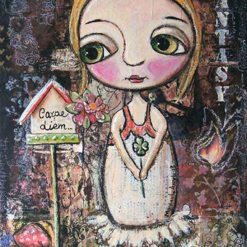 Carpe Diem, bionde child 2012, by Margherita Arrighi