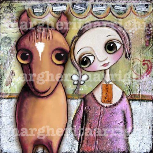 La bambina dagli occhi grandi ed il cavallo