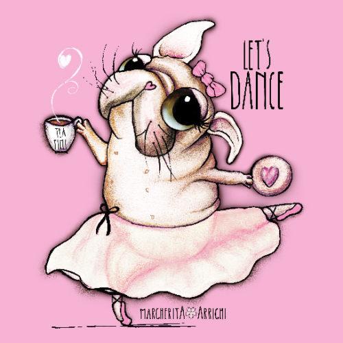 French bulldog or pug Dancer