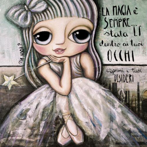 The Blue Fairy as a cute child dancer